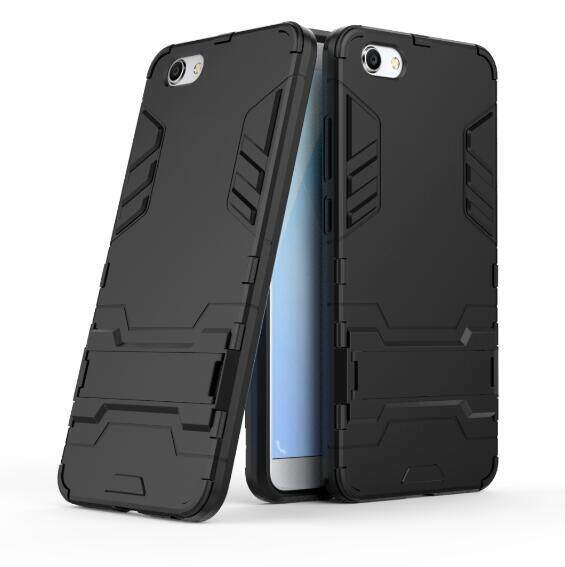 Hard Plastic + TPU Hybrid Combo Armor Back Protective Cover Case For BBK Vivo Y71 (