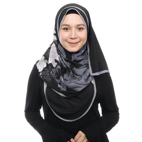 PRINTED SYAMSIAH SHAWL MOON BLACK