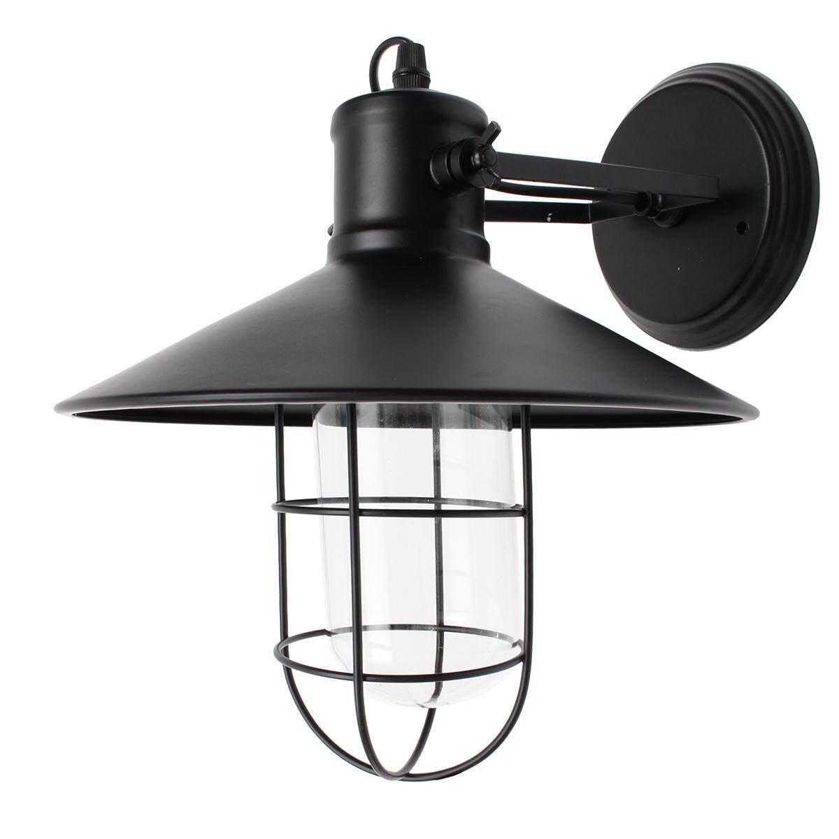 Retro Vintage Outdoor Wall Lamp Lantern Sconce Light Fixture Garden Porch Decor # 4