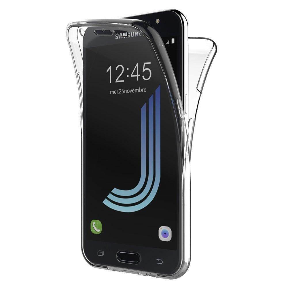 Untuk Samsung Galaxy J5 2016 J510 Case, 360 Derajat Perlindungan Menyeluruh Lembut Bening Case Shockproof Silikon Transparan Sarung Telepon Genggam