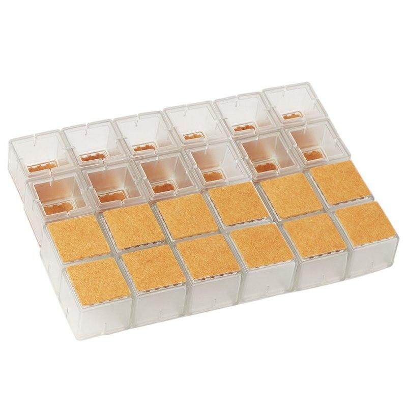 Chair Leg Pads Felt Mat For Chair Legs Furniture Table Leg Caps Hardwood Floor Protectors Square Clear(24 pcs)