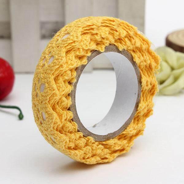 Kain Renda Gulungan DIY Washi Dekoratif Lengket Pita Masking Tape Diri Perekat 8 Mm X 1.7 M-Internasional
