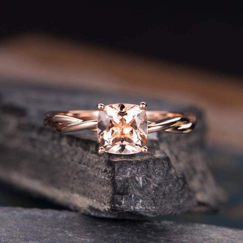 ❤SKute Jewelry Luxury Square Diamond Ring Rose Gold Plated Princess Wedding Women Engagement Rings ,US Size 6-10