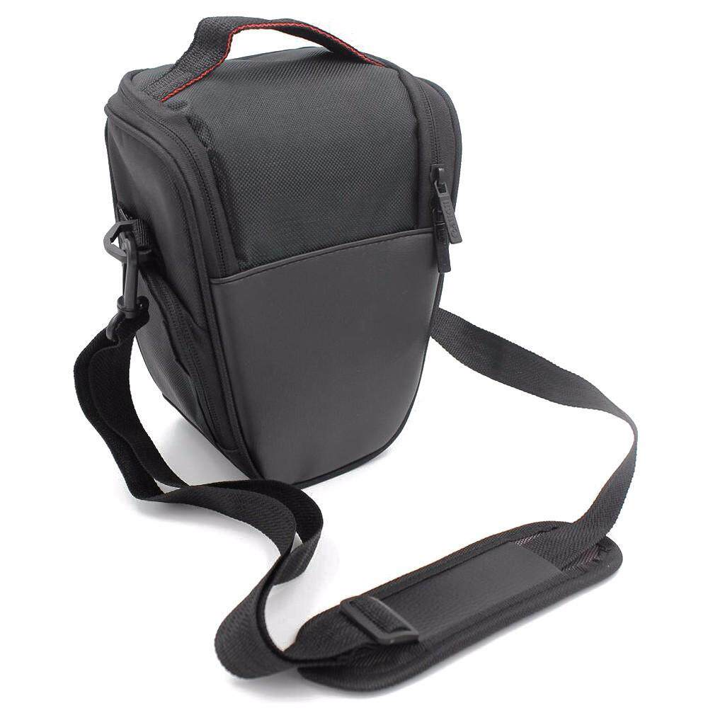 61b6e39bf8b Fashion Triangle Waterproof DSLR SLR Digital Camera Shoulder Bag For Canon  EOS Nikon Black Color