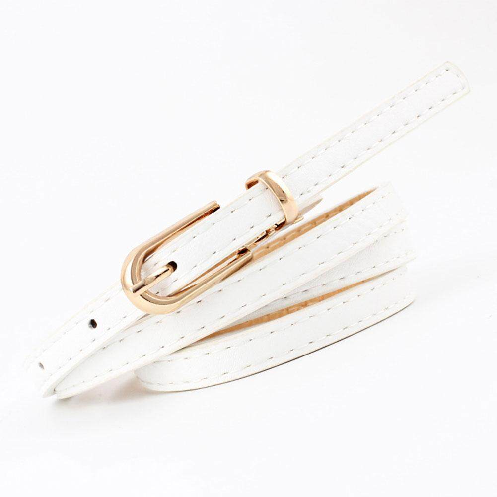 Redcolourful All-match Frosted PU Pin Buckle Waist Belt for Jeans Skirt Dress Trousers Decoration