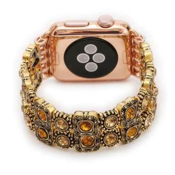 Cheapest today Fashion Beaded Gemstone Bracelet Band Strap For Apple Watch Series 1 38mm YE ล่าสุด - มีเพียง ฿338.08