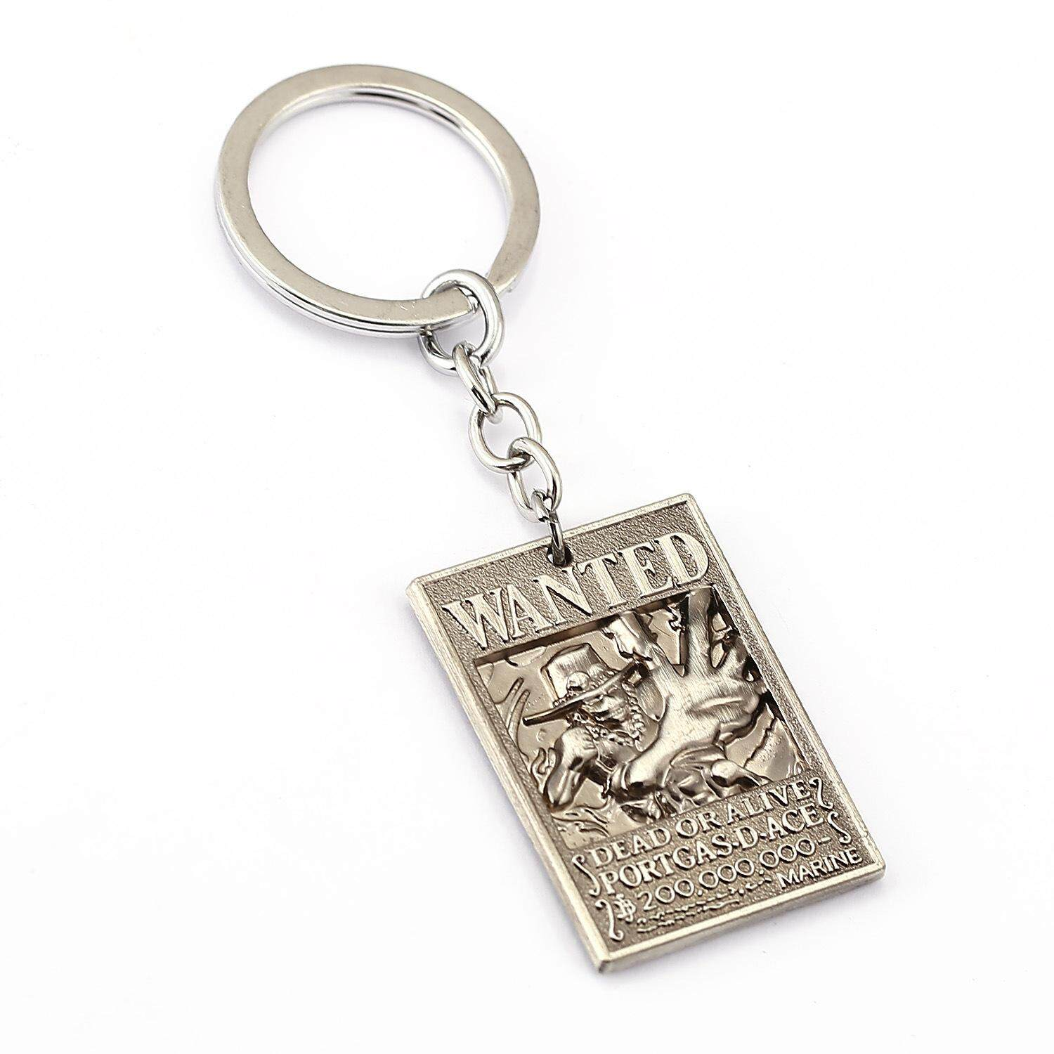 One Piece Portgas D. Ace Keychain(Silver)