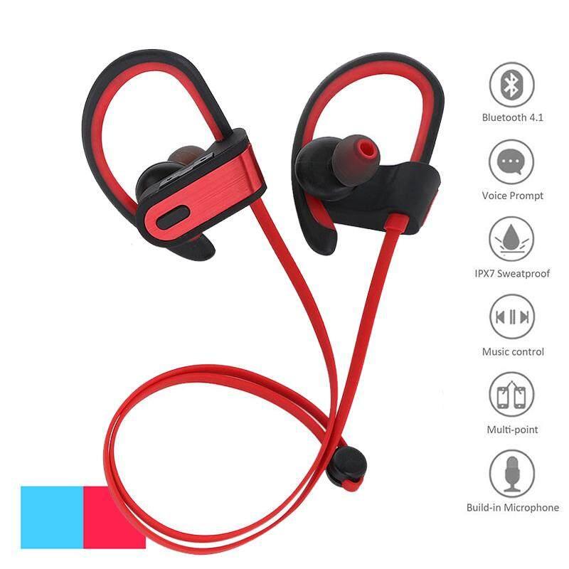 Ajkoy BT302 Headphone Bluetooth Profesi Olahraga Kebugaran Earphone Nirkabel Tahan Air Menjalankan Suction Headset Earbud Stereo