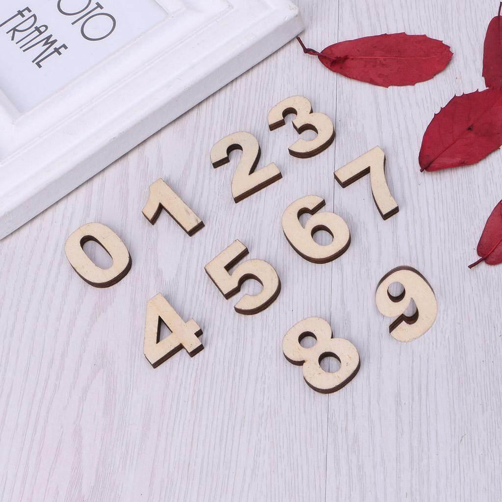 ... 1 Set Huruf Berbahan Kayu Lampu Alfabet Nomor Pola Kayu Cetakan Dekoratif Putih Stand-Intl ...