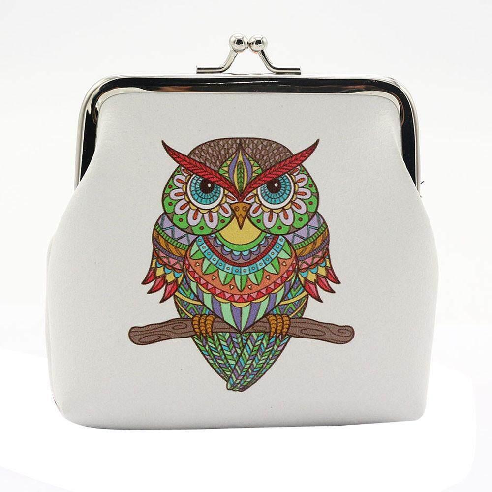 Wanita Wanita Vintage Jaman Dulu Kulit Owl Pengait Dompet Kecil Tas Tangan Baileyshop-Intl