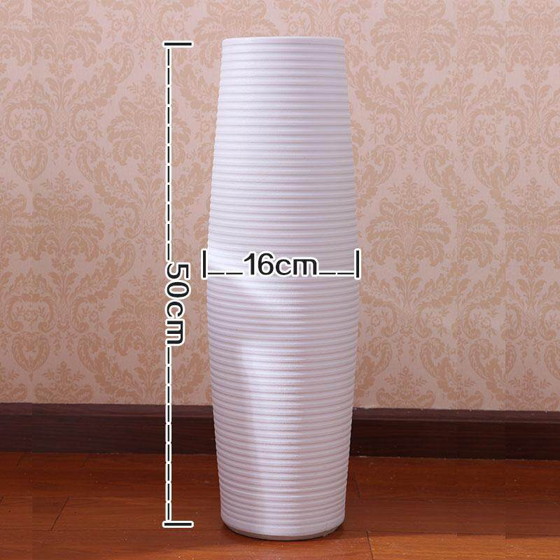 Yi lu Jingdezhentaoci Minimalist Modern Fashion European Style Living Room White High Landing Big Vase FGZ Vase