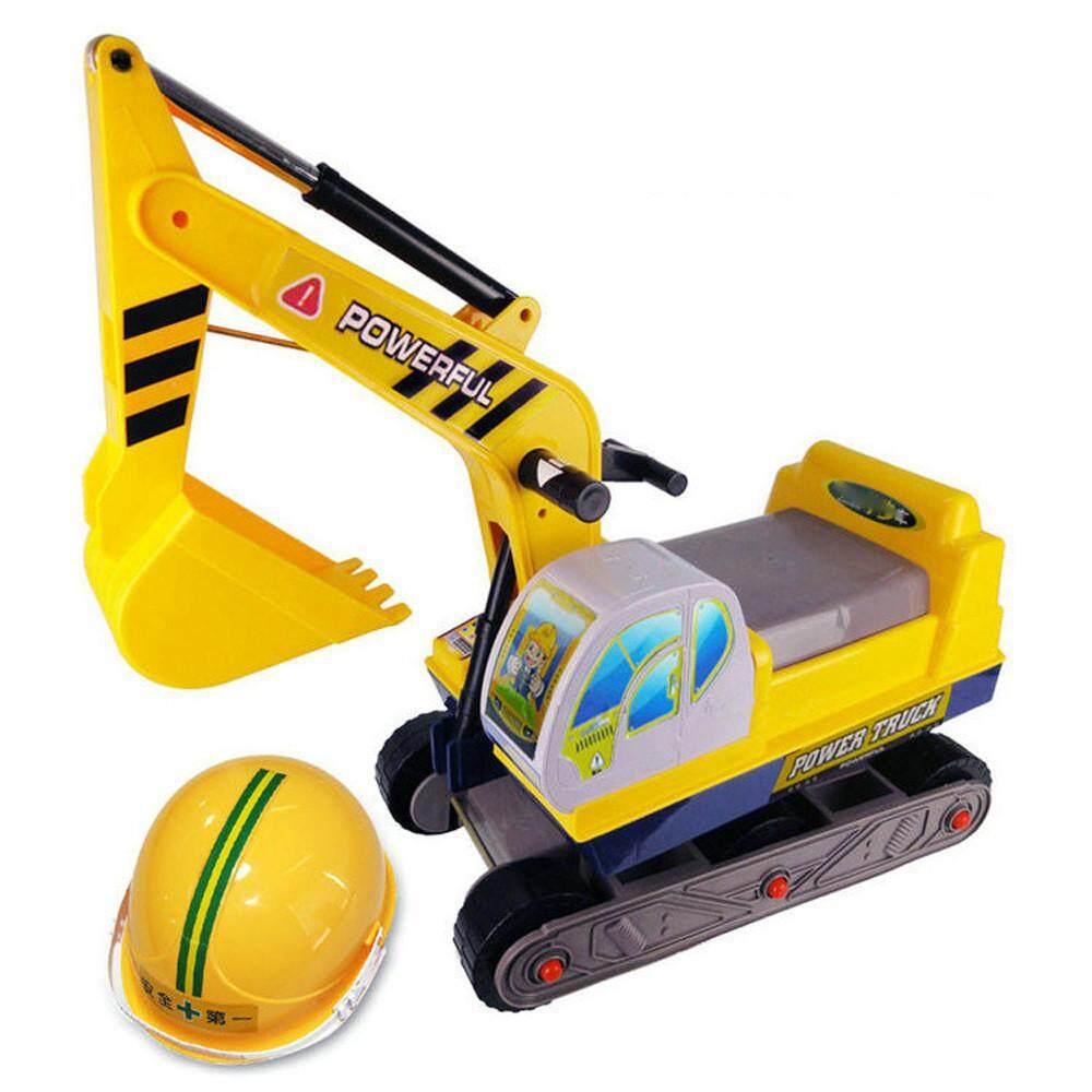 Watsonshop Mainan Aksesori Teknik Helm Keselamatan untuk Ukuran Besar Excavator Mainan Pendidikan