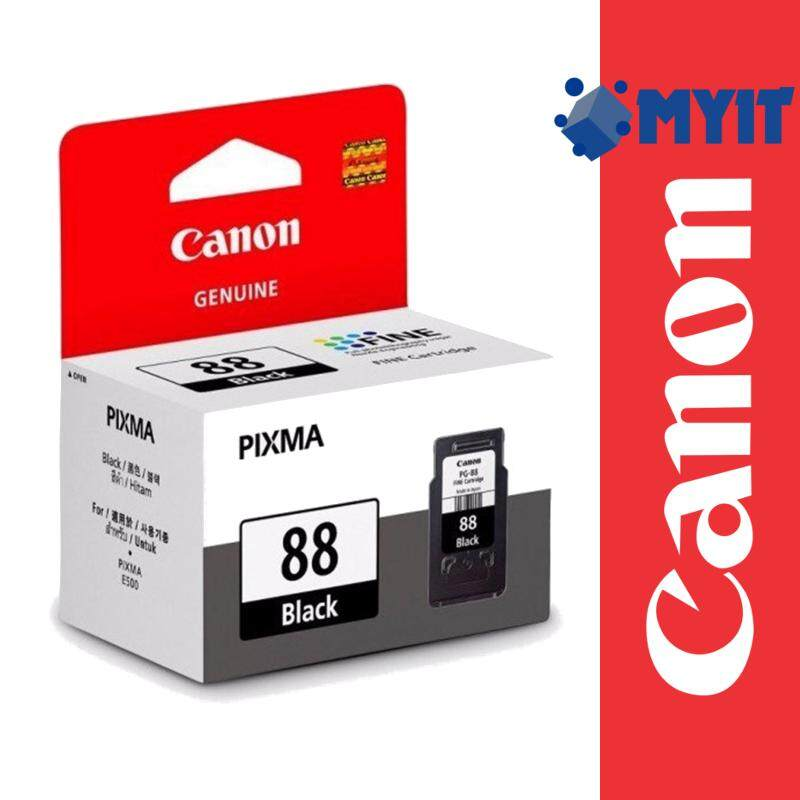 Canon Original PG-88 Black Ink Cartridge 21ml for E500 E510 E600 E610 PG88