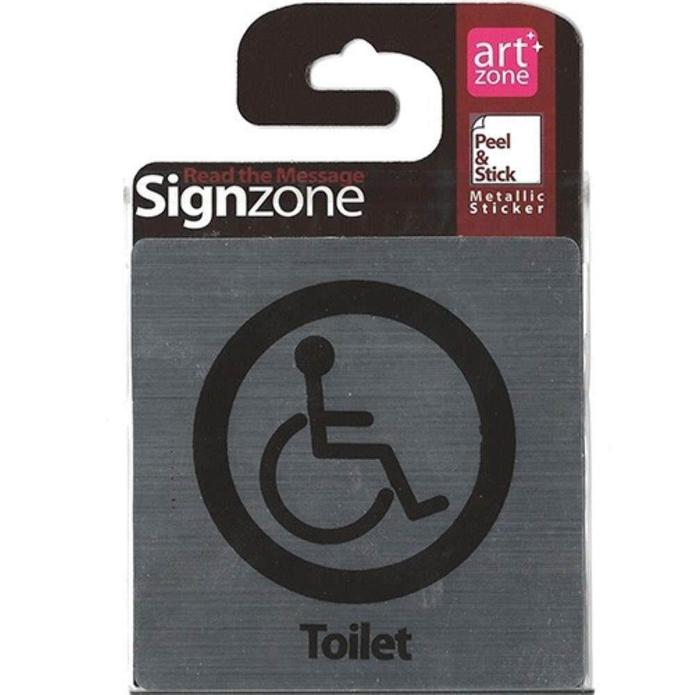 Signzone Peel & Stick Metallic Sticker - Toilet (Item No: R01-08)