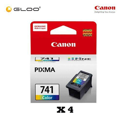 [Set of 4] Canon Fine 11 CL-741 Ink Cartridge - TriColor