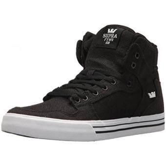 Beli sekarang Supra VAIDER Skate Sepatu Hitam Hitam Putih 5a4812e509