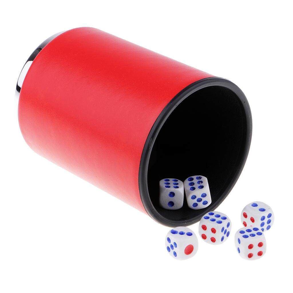 Hình ảnh BolehDeals Hand Shaking Leather Dice Cup KTV Party Game Entertainment Club Dice Cup #1
