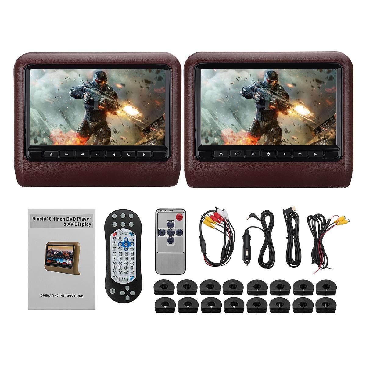 9 Inch Digital Lcd Universal Car Dvd+av Headrest Monitor Player Remote Control By Audew.
