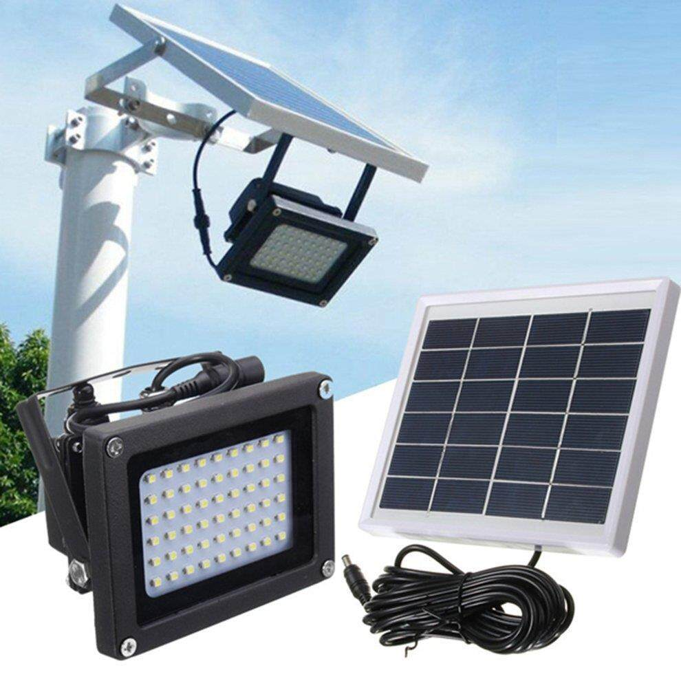 ZM1148100  54 LEDs Floodlight Solar Sensor Lamp Waterproof Outdoor Street Flood Light