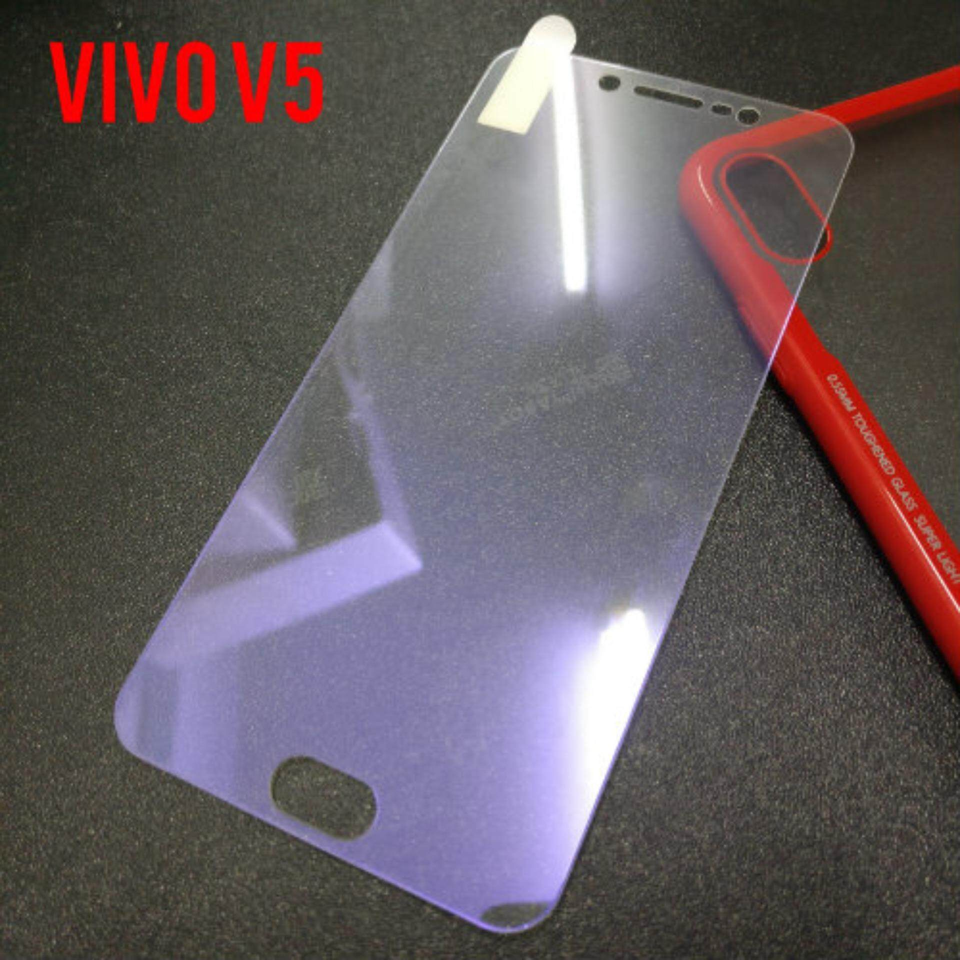 Vivo V5 Blue Ray Full Tempered Glass Screen Protector [Anti Blue Ray][Free