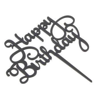 bolehdeals acrylic happy birthday cake topper birthday Old Birthday bolehdeals acrylic happy birthday cake topper birthday party baby shower cake flags baking decorations party supplier shock sale