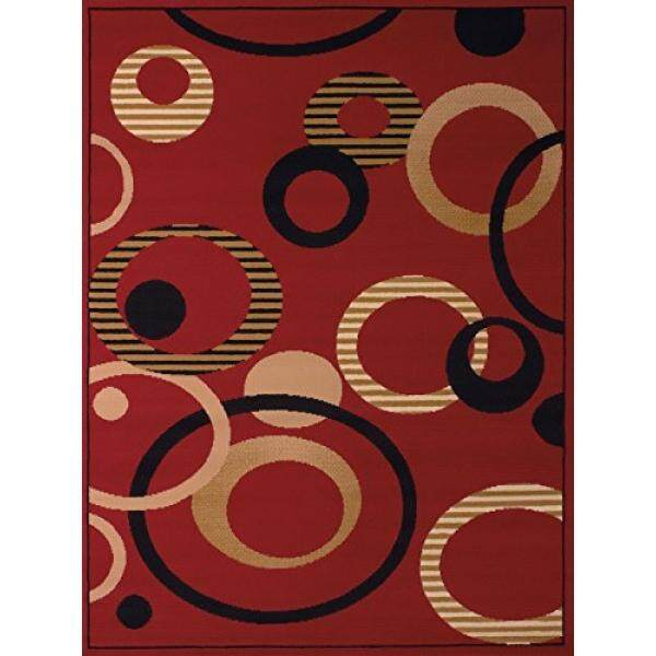 United Weavers of America Dallas Hip Hop Rug, 8 x 10, Red - intl