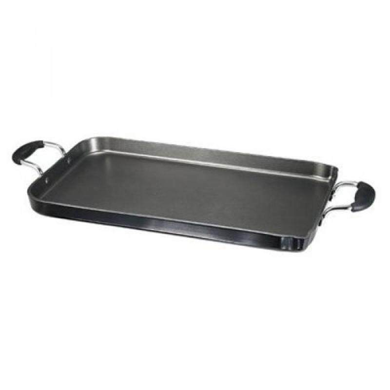 T-fal A92114 / C4061484 Specialty Nonstick Dishwasher Safe 18-Inch x 11-Inch Double Burner Family Griddle Cookware, 18-Inch, Black Singapore