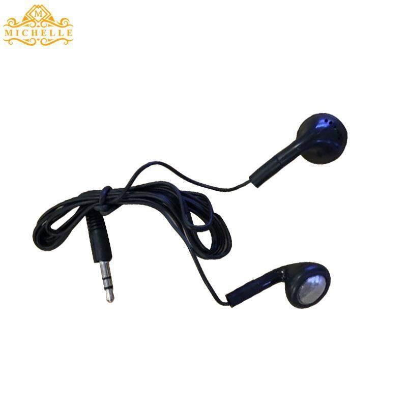 3.5 Mm Earphone Dalam Telinga Penyumbat Telinga Plastik Hitam untuk Telepon Seluler Ponsel Speaker