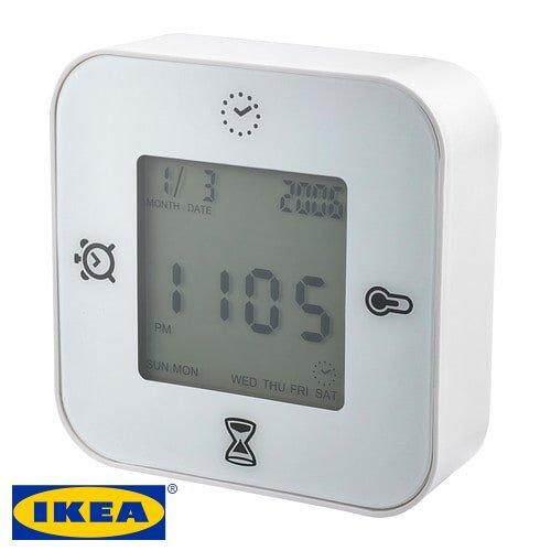 IKEA DEKAD ALARM CLOCK SILENT CLOCK DESAIN VINTAGE PUTIH. MYR 37
