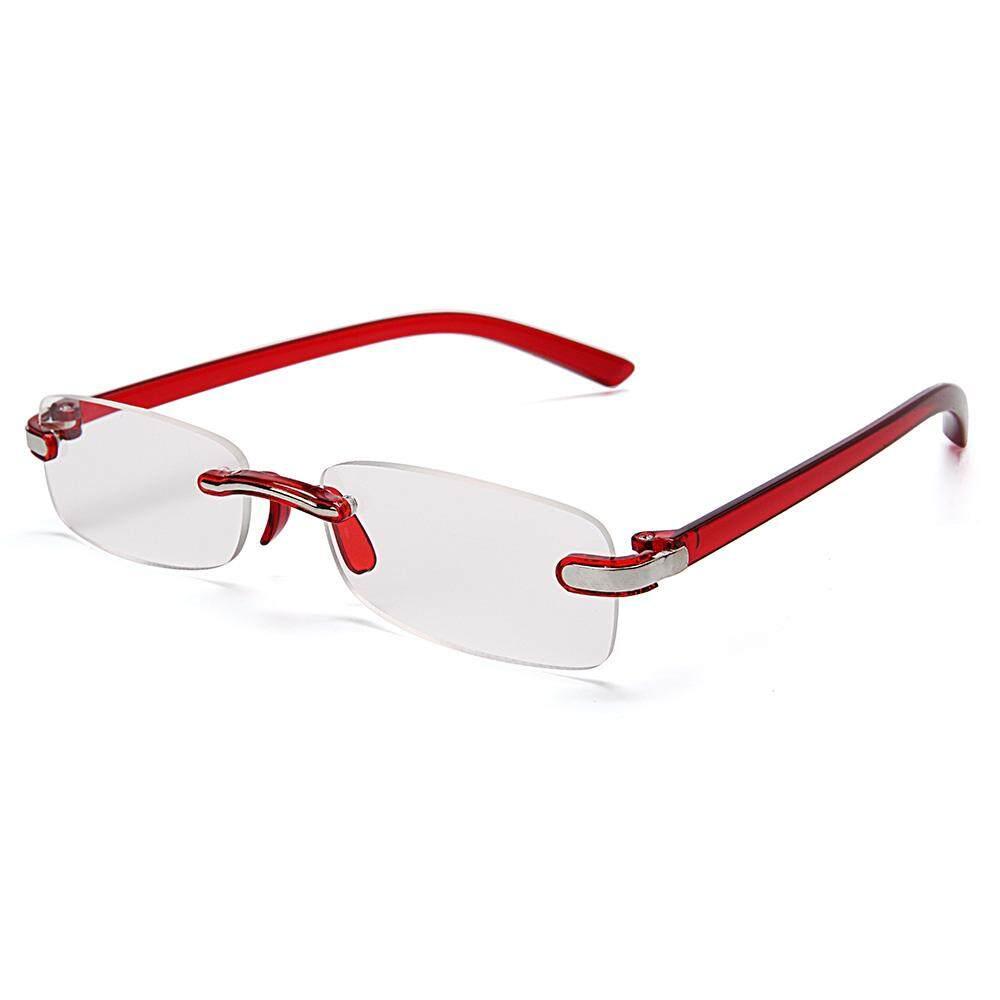 c31e2f32931a 250 Degree Women Men Frameless PC Legs Resin Lens Foldable Lightweight  Fashion Cute Reading Glasses