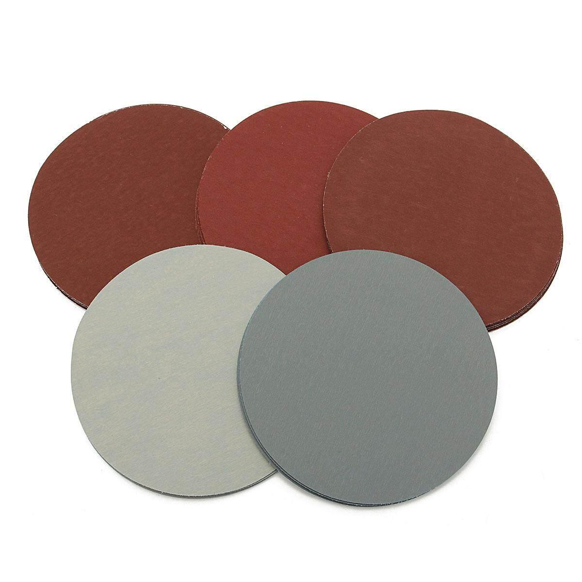 500X 5 Round Grit 1000 1500 2000 2500 3000 Sanding Discs Hook Loop Sandpaper