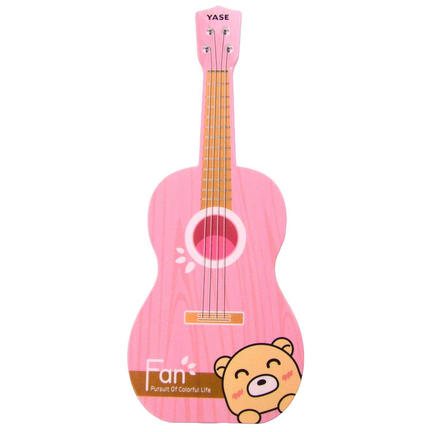 Hình ảnh Mini Portable USB Handheld Fan Unique Guitar Shape Cooling Fan with Lanyard for Summer Outdoor Activities Beach Holiday Travel Pink - intl