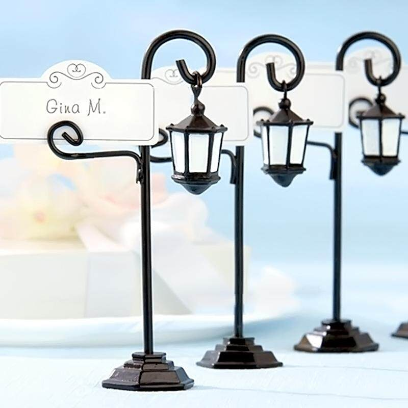 5 PCS Streetlight Shape Wedding Party Reception Place Card Holder Number Name Table Menu Picture Photo