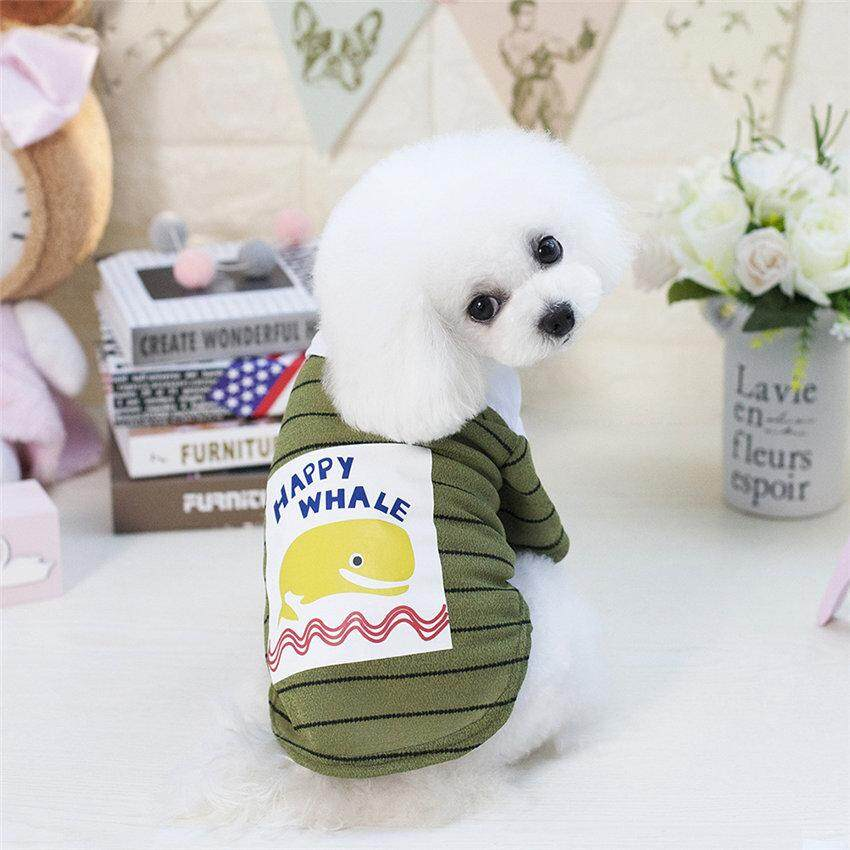 Hình ảnh New Cheap Summer Pet Dog T-shirt Coat Clothes Whale Pattern Puppy Dog Cat Vest Shirts for Chihuahua Dog