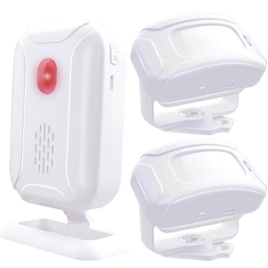 Wireless Window Door Entry Burglar Security Alarm System Doorbell Remote Control 280m Range Home Shop Magnetic Chime Night Light Deaf 2* Infrared Motion Sensor 1*receiver - Intl.