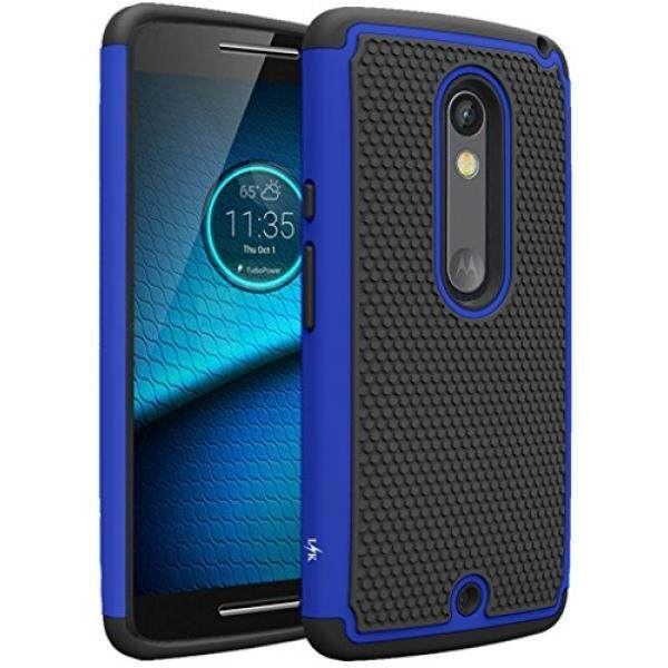Cell Phones Cases Droid Maxx 2 Case, LK [Shock Absorption] Drop Protection Hybrid Dual Layer Armor Defender Protective Case Cover for Motorola Droid Maxx 2 (Blue) - intl