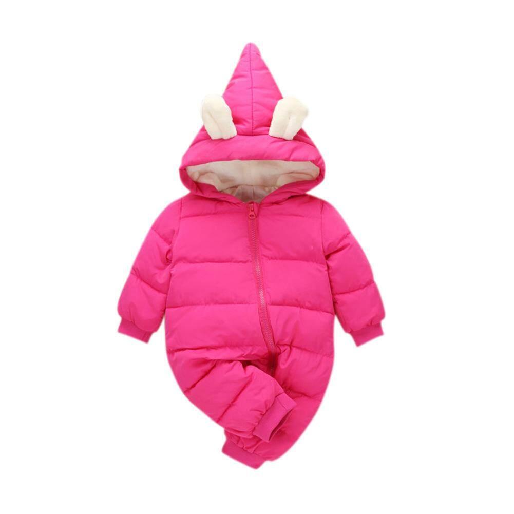 aa1515ab6 YANYI Winter Warm Baby Girl Boy Snowsuit Cute Cartoon Hooded Zipper Romper  Lovely Ear Long Sleeves