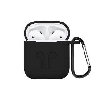 Tawaran panas Teekeer Soft Silicone Cover For Apple Airpods Waterproof Shockproof Protector Case Sleeve Pouch For AirPods Earphone With Hook promosi - Hanya ...