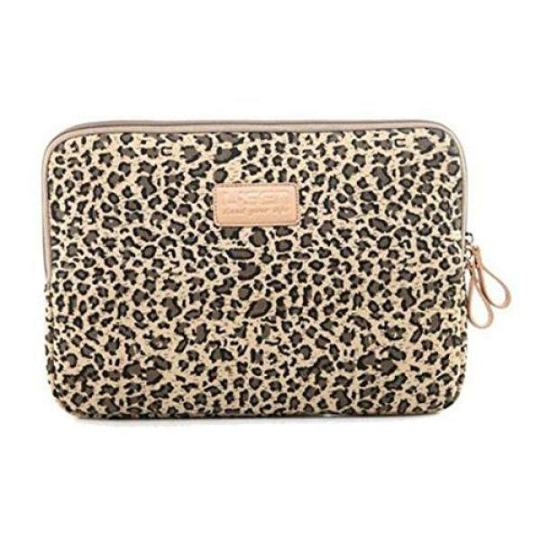 Best Christmas Gift Zonman Bohemian Style Canvas Fabric Laptop Notebook Computer MacBook MacBook Pro MacBook Air Sleeve Case Bag Cover Macbook Sleeve Briefcase Carry Case(Brown Leopard) - intl