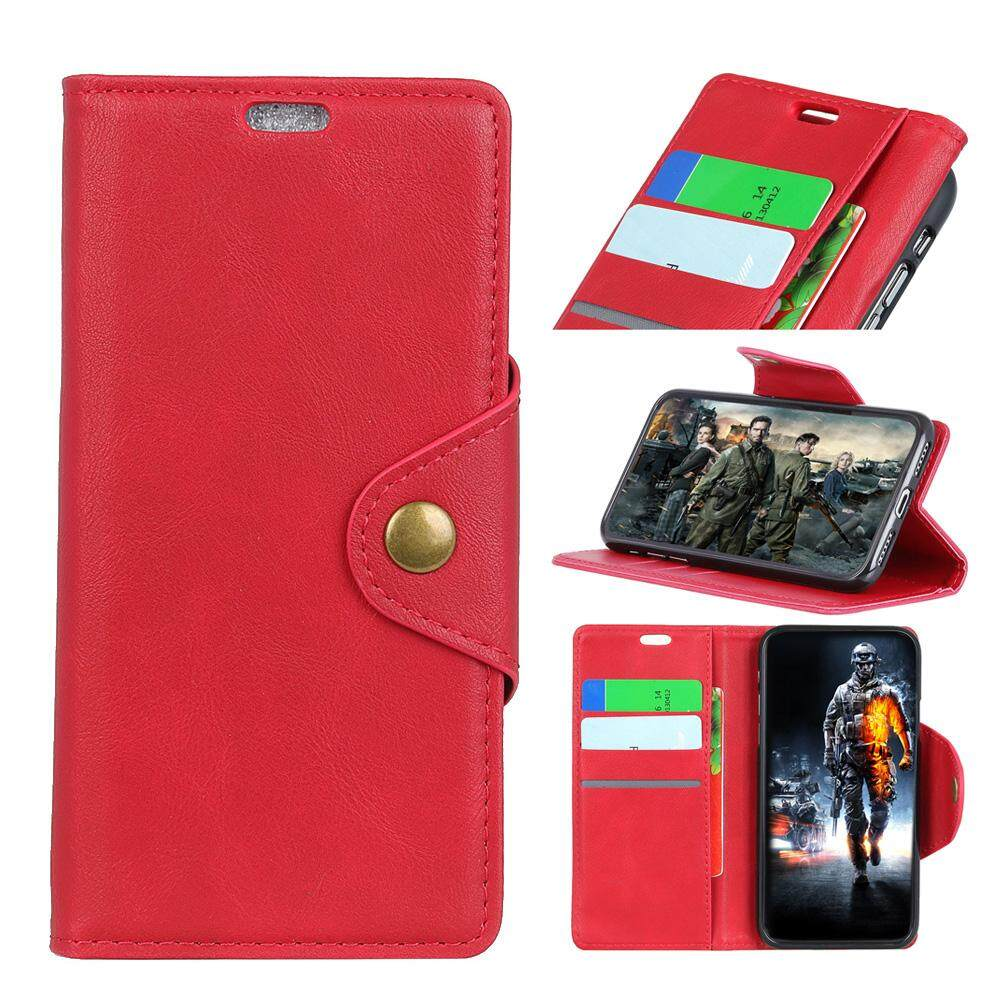 Moonmini Case Cover, For Huawei Honor V9 Play / 6C Pro PU Leather Wallet Case Goat Grain Flip Stand Cover with Card Slots and Copper Buckle - intl