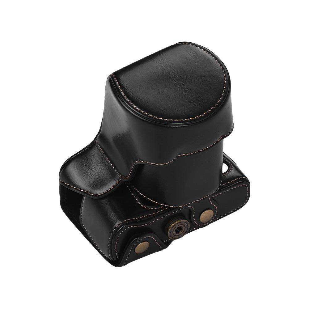 Protective Leather Camera Case Bag Coffee Digital Camera Leather Case for Fujifilm X-T20 X-T10