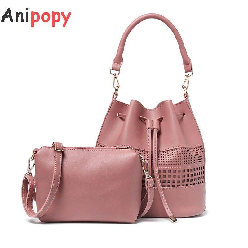 aa6bc6c34a2 Anipopy 2 in 1 Bucket Bag Women Top Handle Handbags Satchel Purse Tote Bag  Shoulder Bag