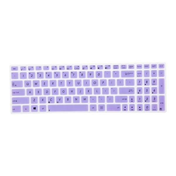 Keyboard Skins Leze - Ultra Thin Keyboard Skin Cover for ASUS UX501 K501UX F554LA F555LA F555UA F556UA R556LA X540SA X552 X555DA GL502VY GL502VS GL702VM GL702VS GL552VW GL752VW GL552JX Q504UA Q534UX Q524UQ - Purple - intl