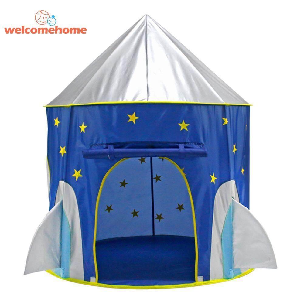 Hình ảnh Cloth Outer Space Ship Folding Toy Tent Yurt Children Play House Kids Gifts - intl