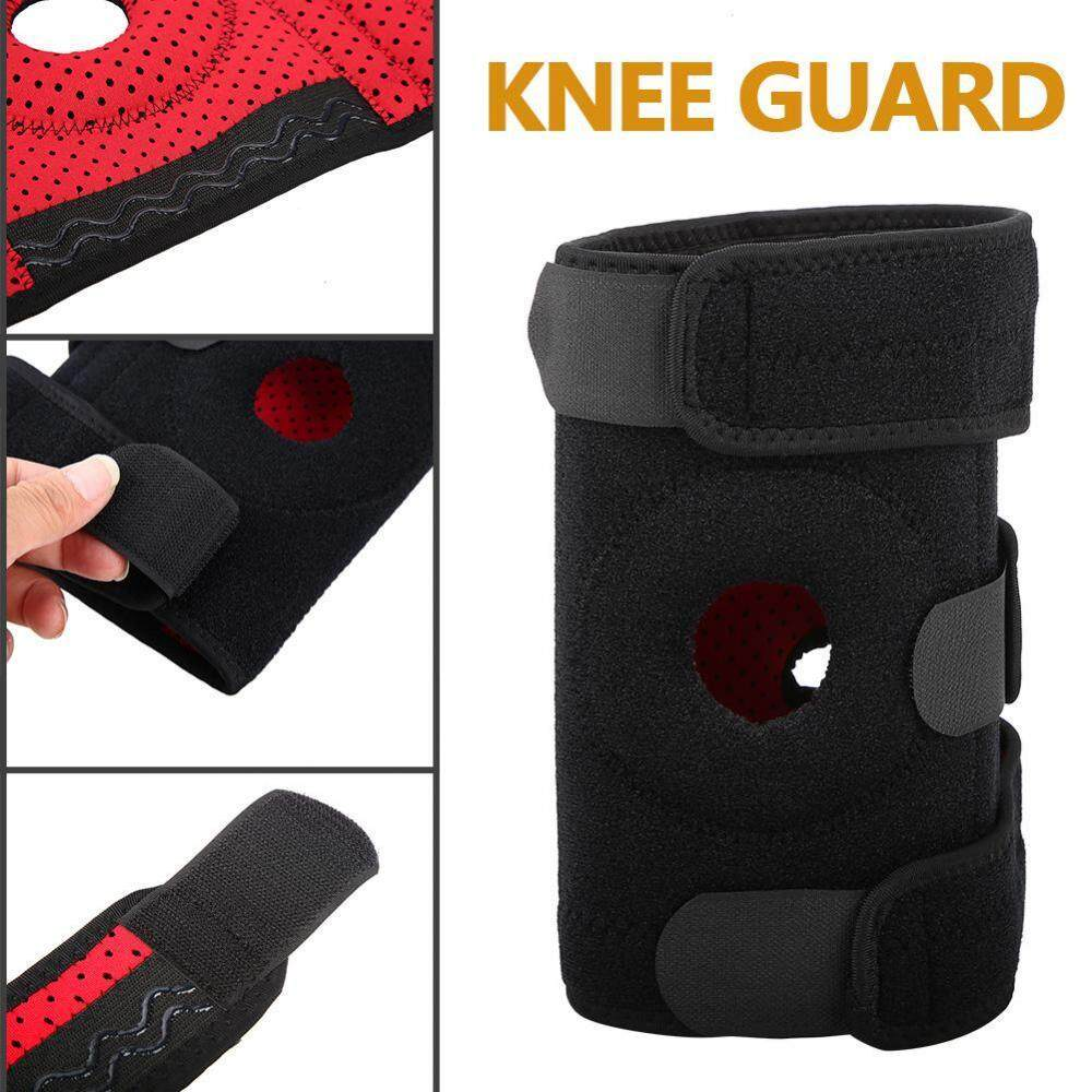 Clearance Sale Justgogo Adult Knee Guards Protectors Adjustable Strap Protective Gear Football Basketball