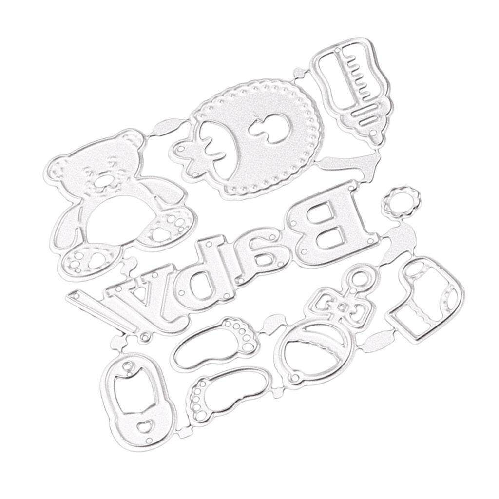 Bolehdeals Baby Accessories Metal Cutting Dies Stencil For Scrapbook Diy Card Making By Bolehdeals.