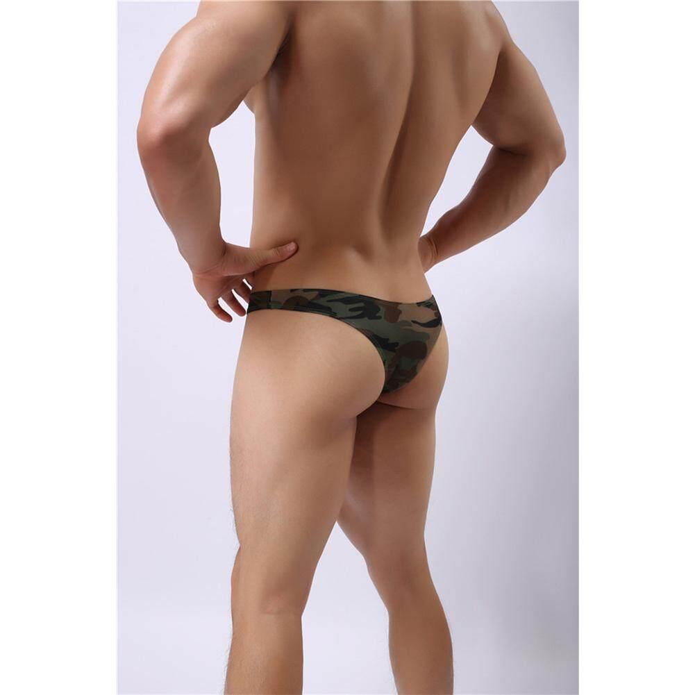 0999a0c8e1 WF Men Low Waist Briefs Sexy Camouflage U Convex Design Underpants Underwear