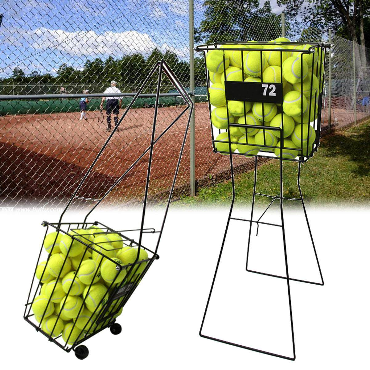 Tennis Sport Ball Pick Up Hopper Basket Portable Stand Storage Equipment By Freebang.