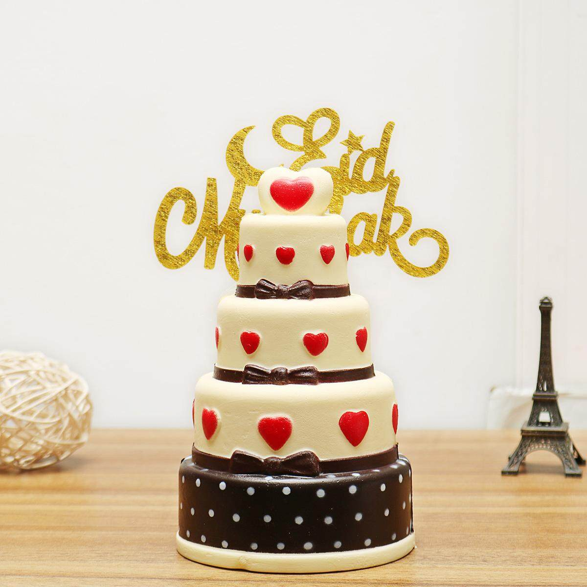 Free Shipping Flash DealMuslim Eid Mubarak Ramadan Islamic Cake Topper Glitter
