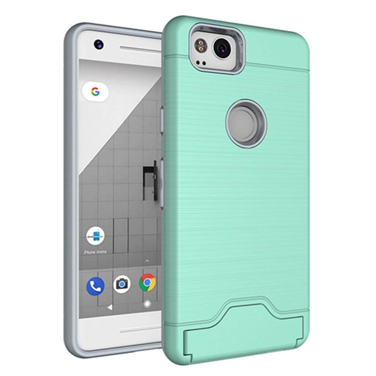 Hình ảnh for Google Pixel 2 Case [Hidden Card Slot] Hard PC + TPU Hybrid Back Armor Case Cover, with Cryptic Card Storage Slot, Skidproof, Minimalist - intl